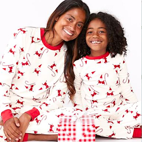 Modern Smiley Santa Family Christmas Pajamas