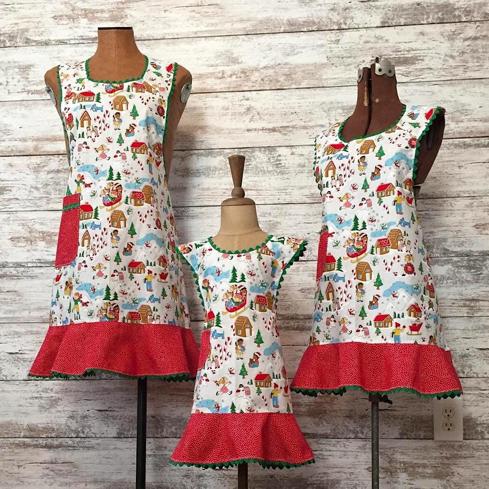 Vintage Style Holiday Aprons
