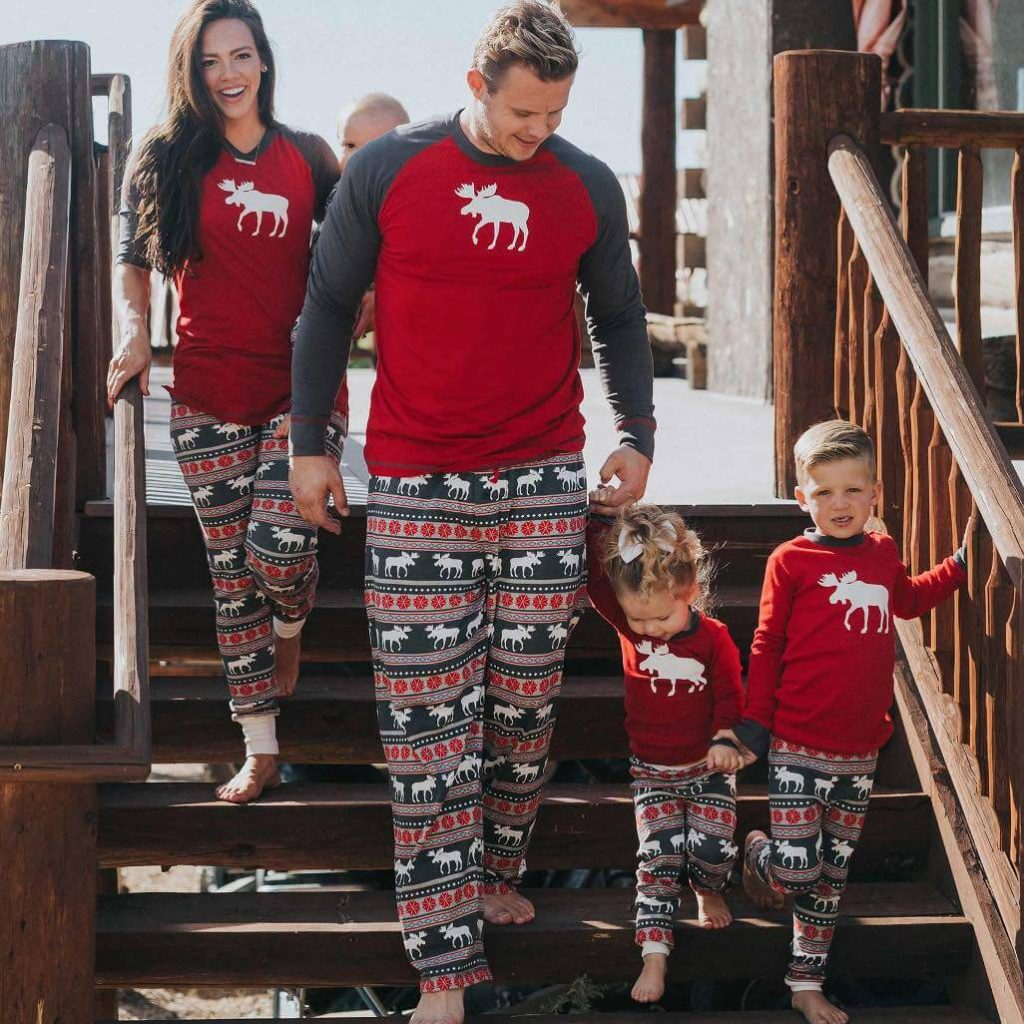 Moose Fair Isle Family Holiday Pajamas