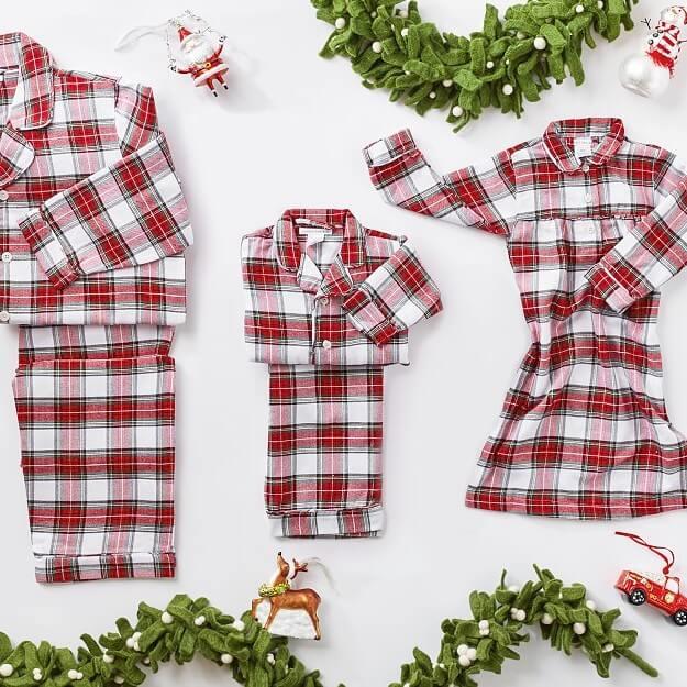 Morgan Plaid Flannel Family Holiday Pajamas