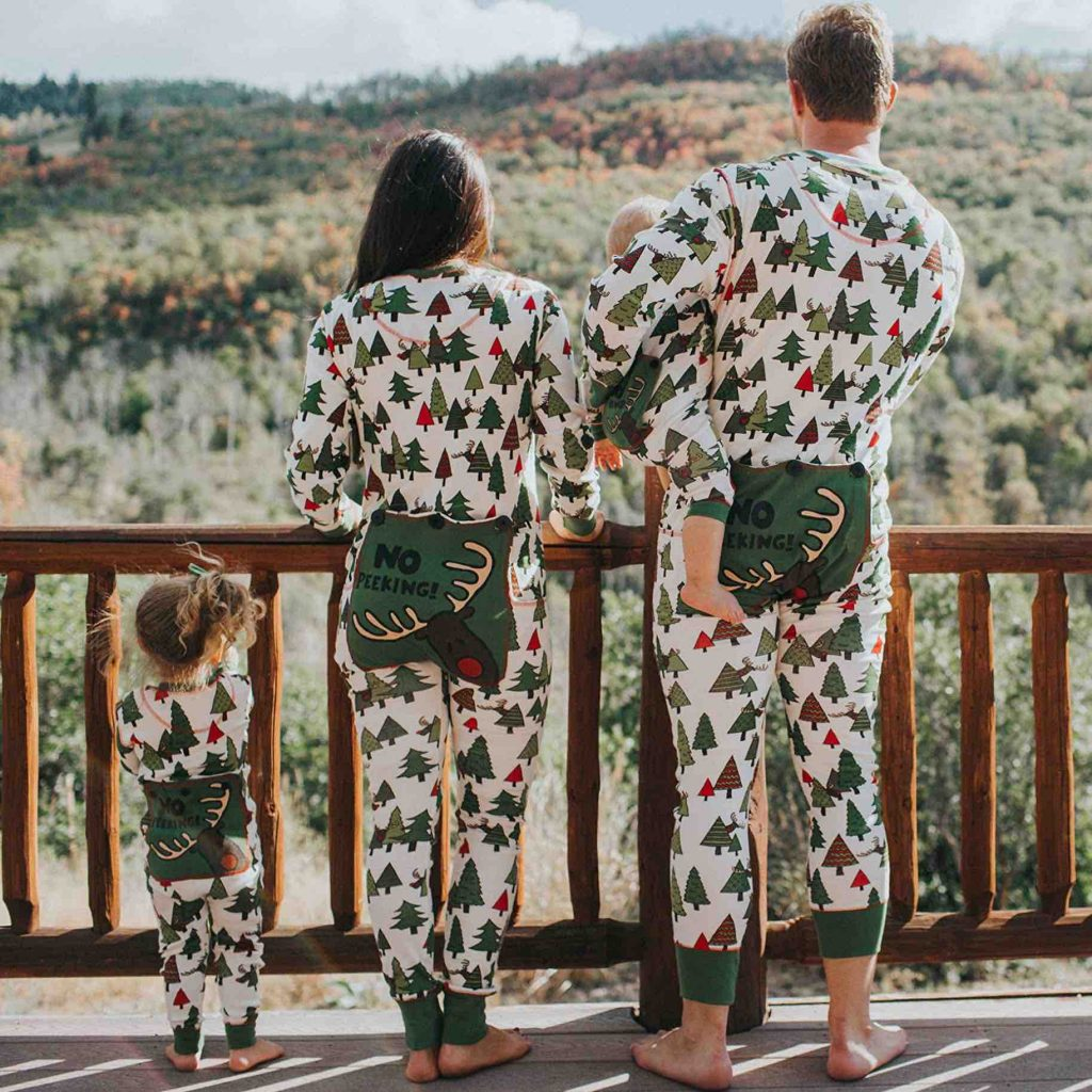 No Peeking Onesie Family Holiday Pajamas