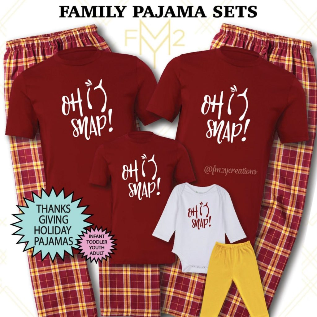 Oh Snap Family Matching Thanksgiving Pajamas