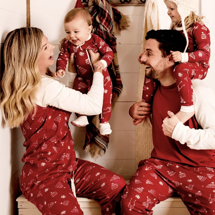 Hats Off Organic Cotton Family Matching Holiday Pajamas