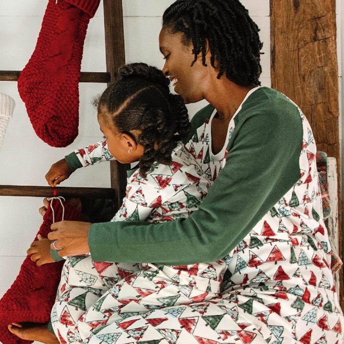 Family Matching Christmas Tree Organic Cotton Pajamas