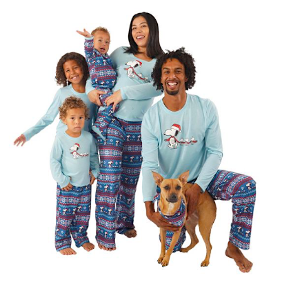 Peanuts FairIsle Family Matching Holiday Pajamas