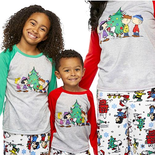Family Matching Peanuts Christmas Pajamas
