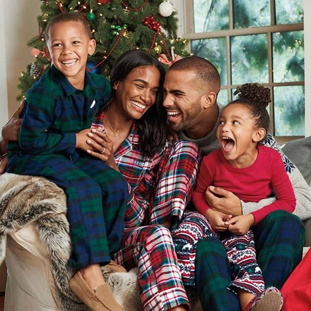 Plaid Flannel Family Holiday Pajamas