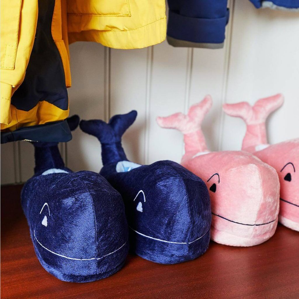Plush Whale Slippers Family Holiday Matching