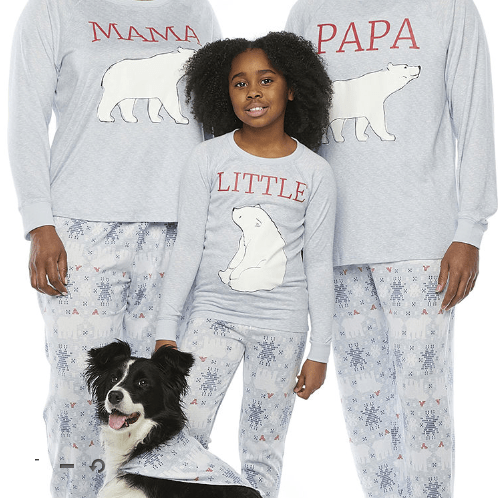 Polar Bears & Snowflakes Family Matching Holiday Pajamas