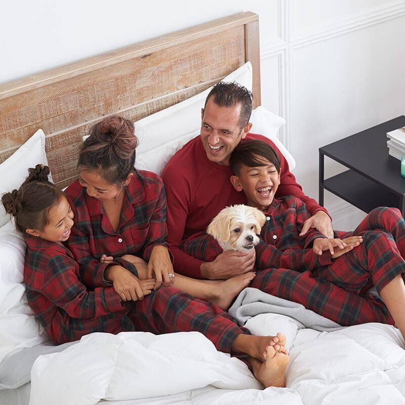 Red Plaid Family Holiday Pajamas