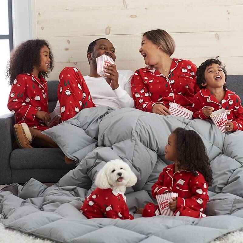 Santa Family Holiday Pajamas