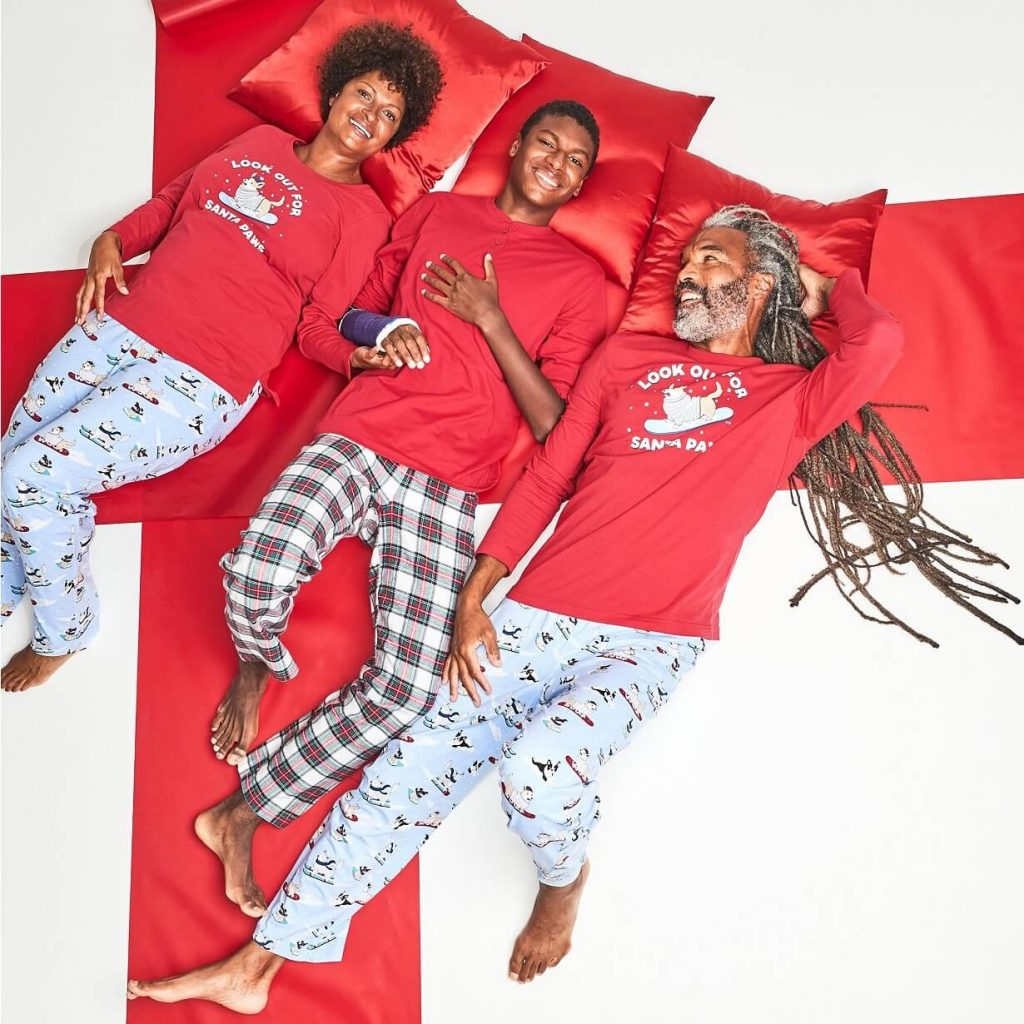 Santa Paws Matching Family Holiday Pajamas