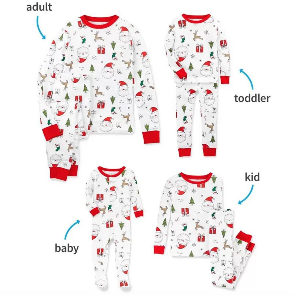 Santa Sketch Family Matching Christmas Pajamas