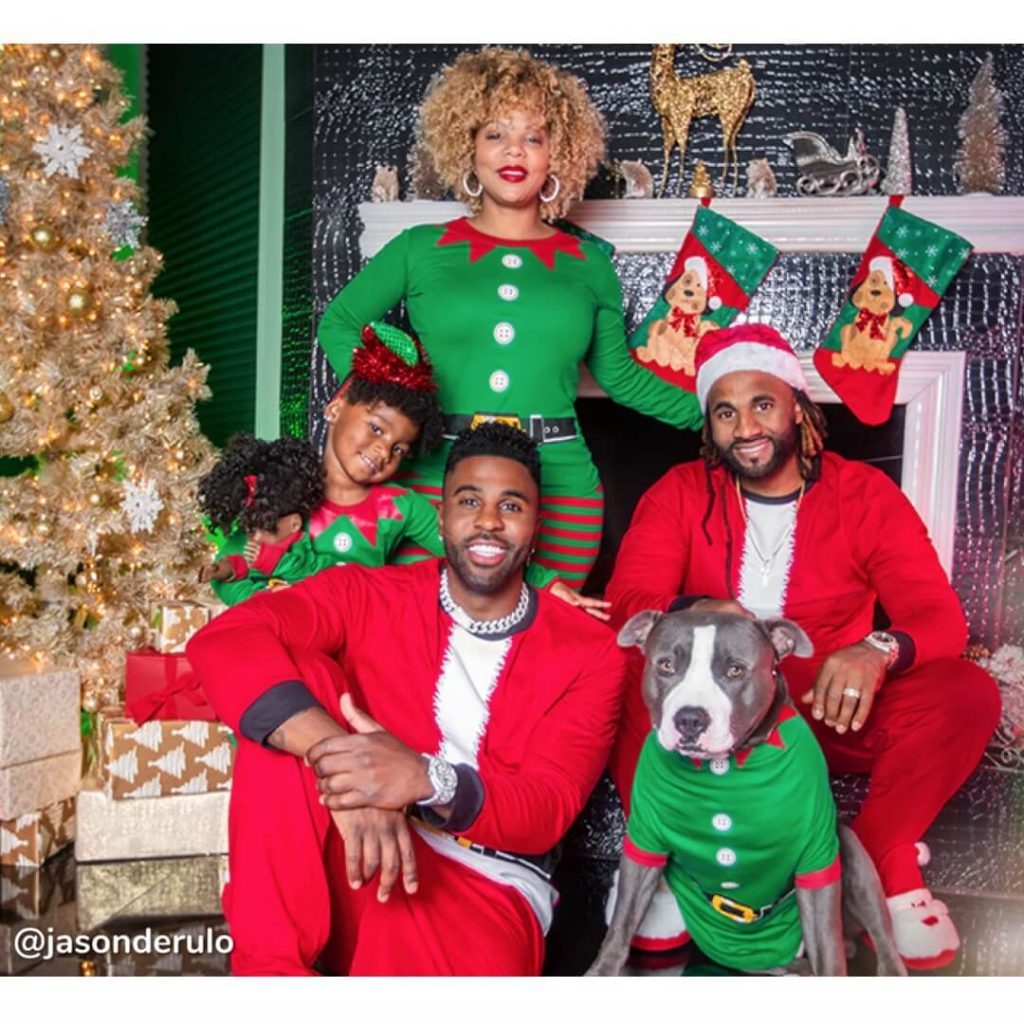 Santa Suit Family Holiday Pajamas Jason Derulo