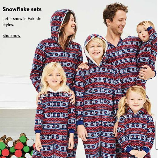 Snowflake Onesies Family Matching Holiday Pajamas
