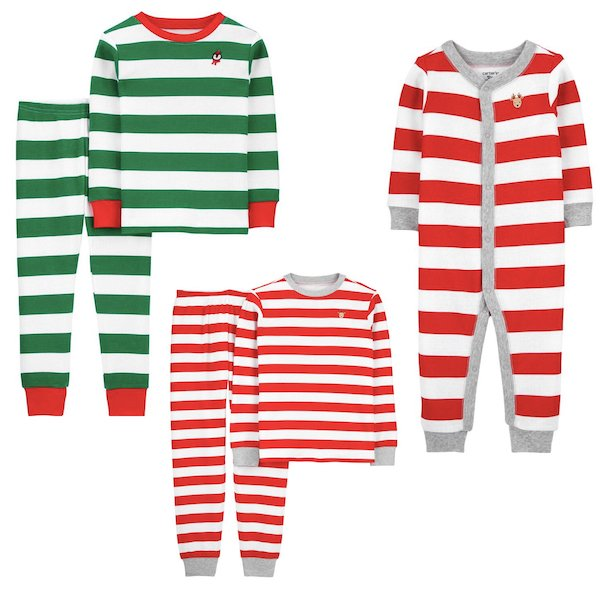 Striped Mix and Match Family Holiday Pajamas