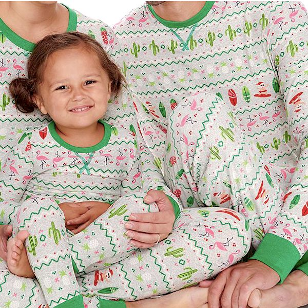 Surfing Santa Family Holiday Pajamas