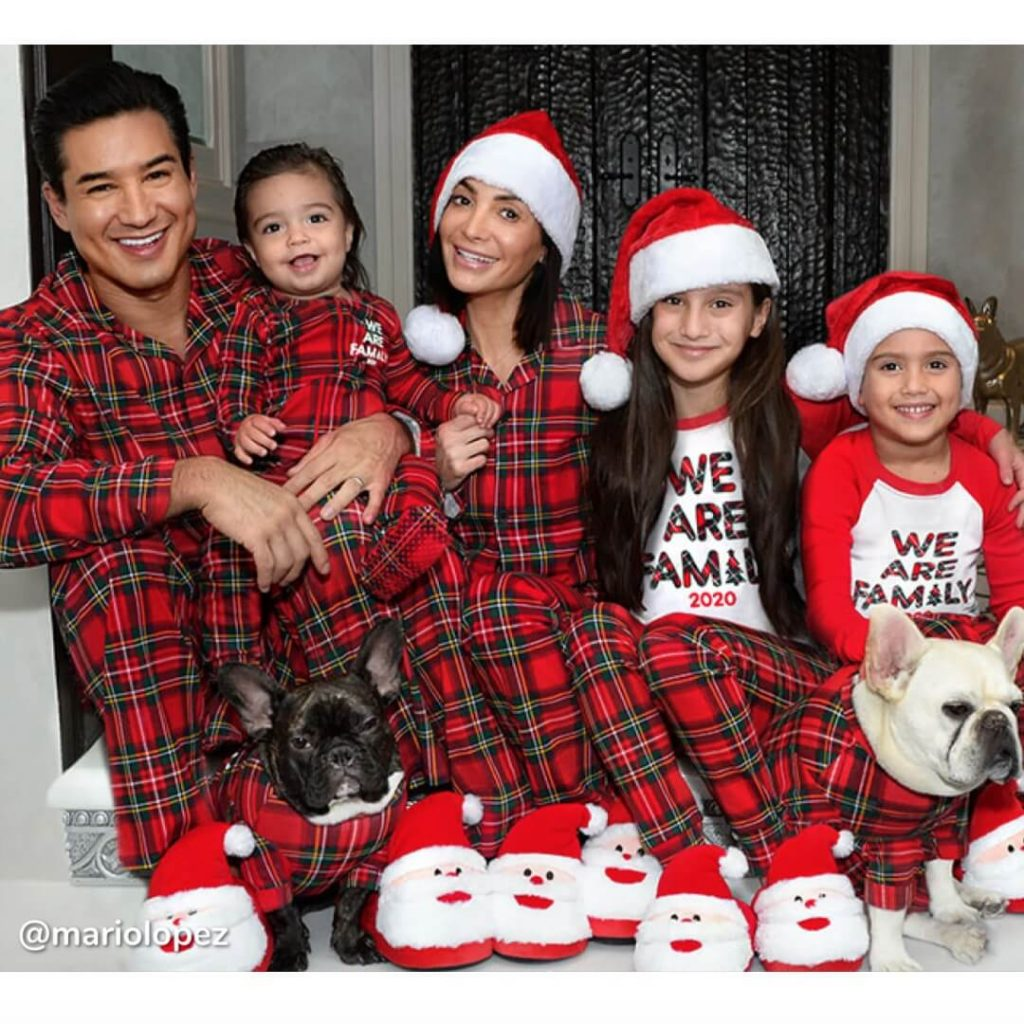 Tartan Family Holiday Pajamas Mario Lopez