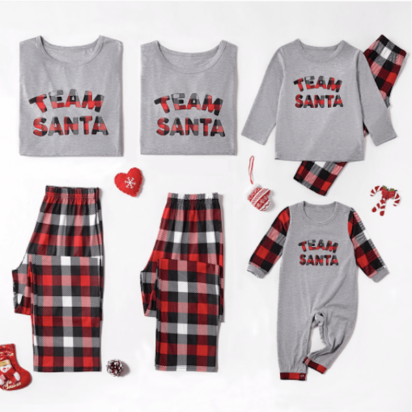 Team Santa Cheap Family Christmas Pajamas