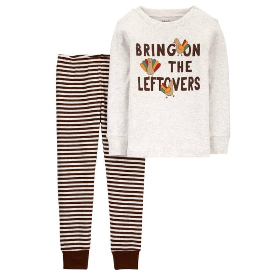 Bring on the Leftovers Thanksgiving Pajamas