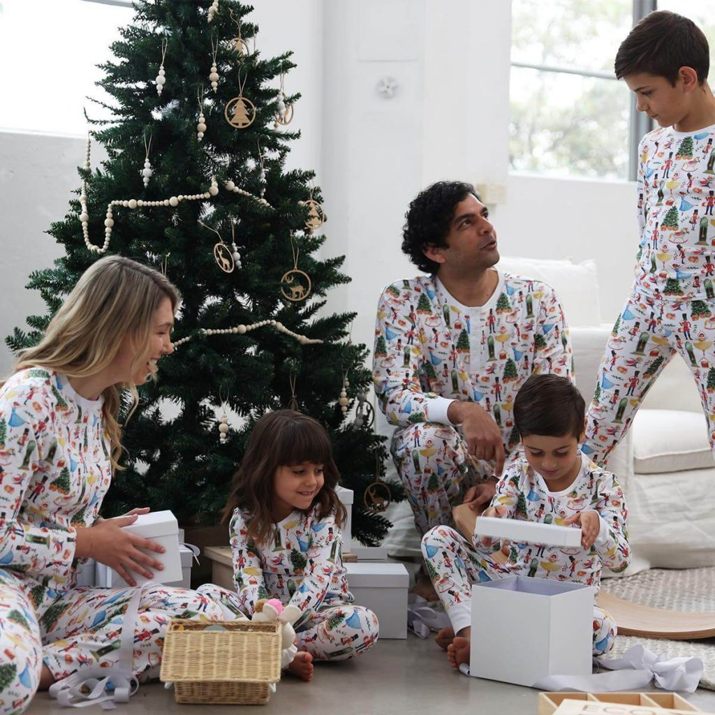 Vintage Christmas Organic Family Holiday Pajamas