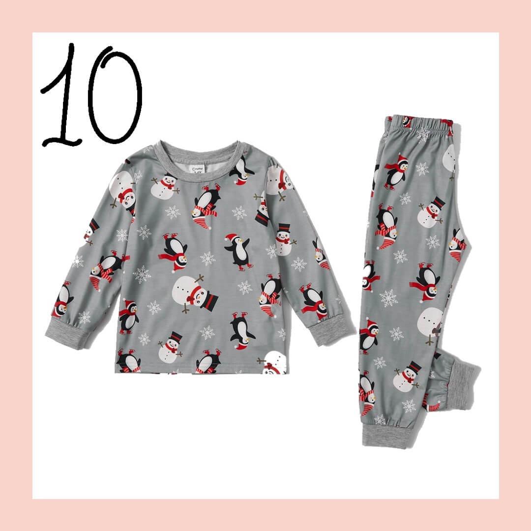 Christmas Penguin Matching Family Holiday Pajamas