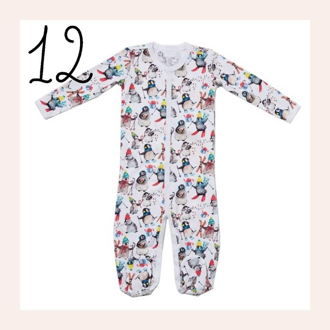 Winter Penguin Matching Family Holiday Pajamas