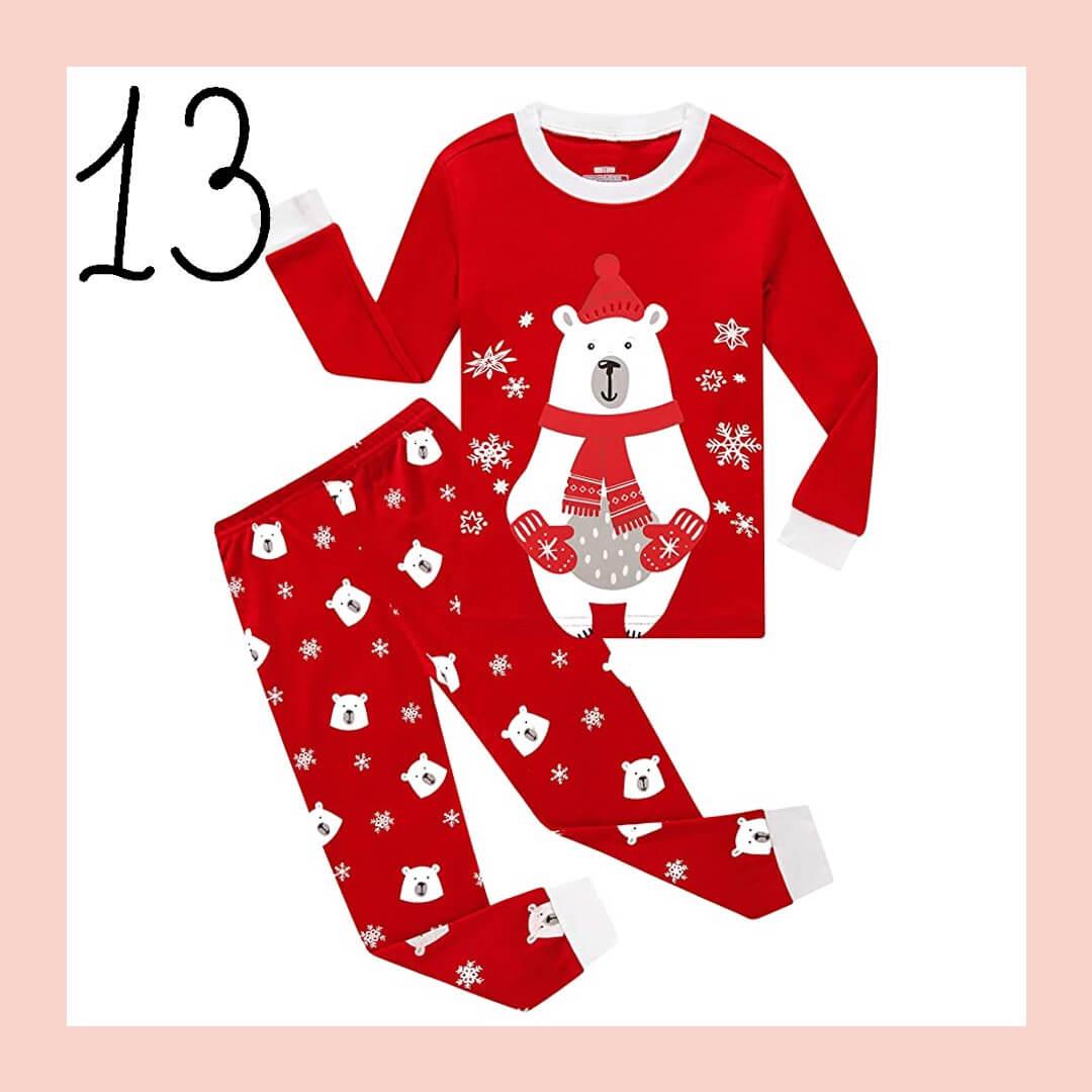 Red Christmas Bear Matching Family Holiday Pajamas