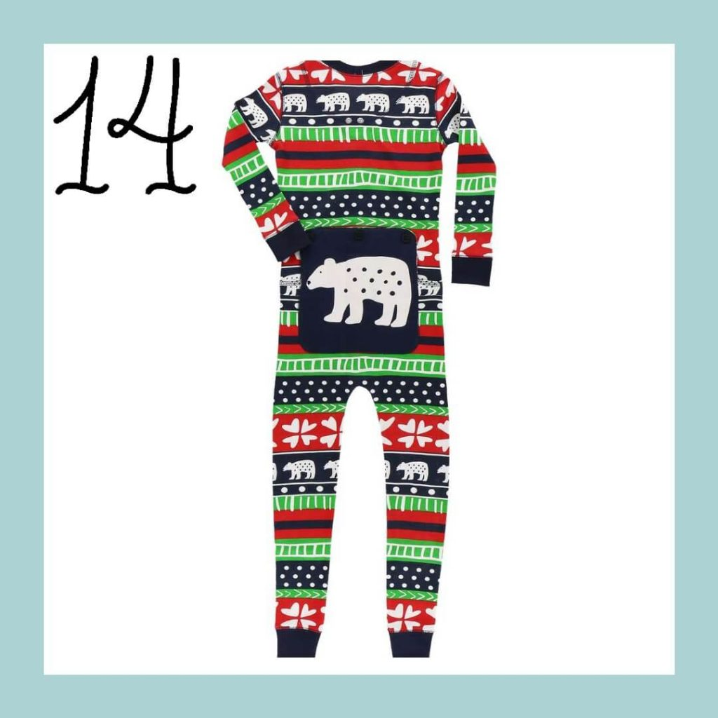 Sweater Bear Onesie Matching Family Holiday Pajamas