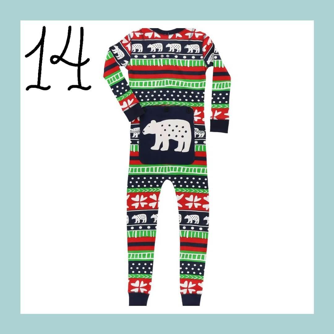 Sweater Bear Onesie Matching Family Holiday Pajamas