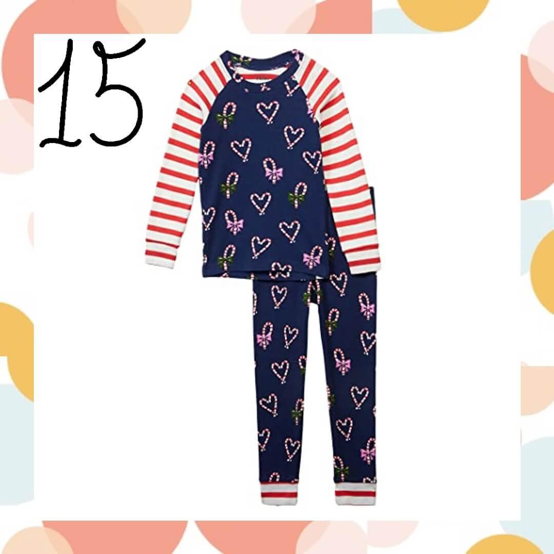 Candy Cane Hearts Family Holiday Pajamas