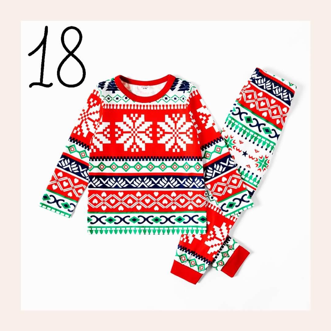 Geometric Print Family Holiday Pajamas