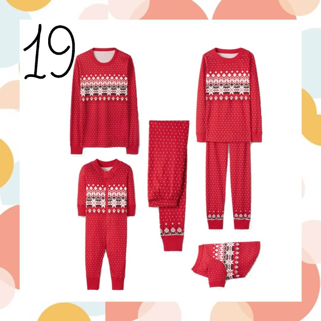Heritage Fairisle Red Matching Family Pajamas