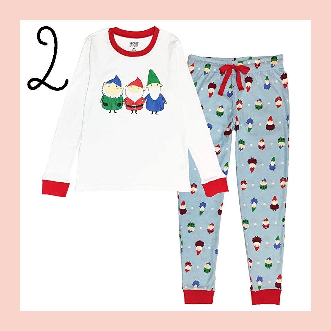 Festive Gnome Matching Family Holiday Pajamas