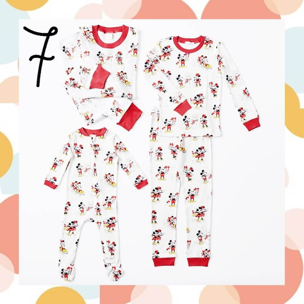 Organic Disney Mickey Mouse Matching Family Holiday Pajamas