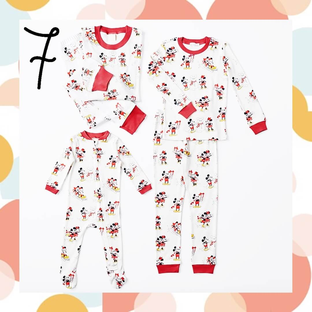 Organic Disney Mickey Mouse Matching Family Holiday Pajamas