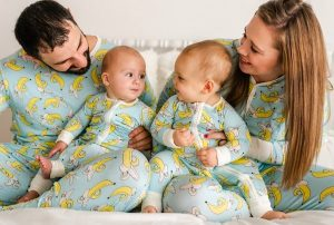 Family Matching Bananas Pajamas