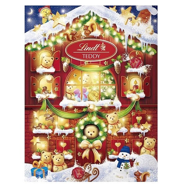 Lindt Chocolate Holiday Teddy Bear Advent Calendar