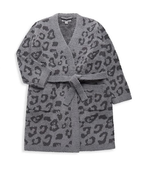 Girl's Barefoot Dreams Leopard-Print Robe