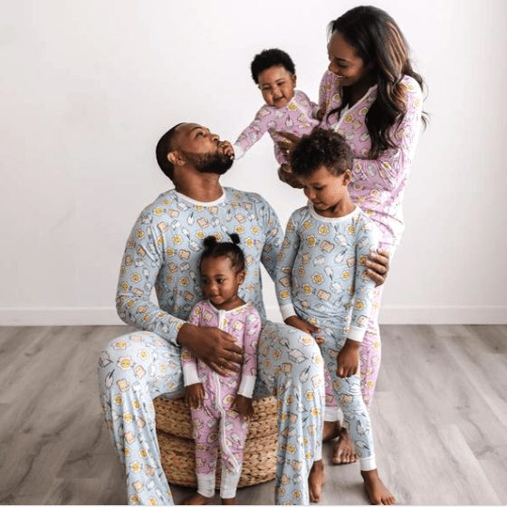 Breakfast Buddies Family Matching Bamboo Viscose Pajama