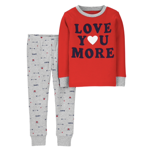 100% Cotton Family Matching Valentines Day Pajamas