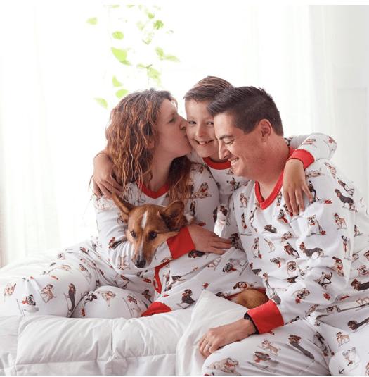 Family Matching Winter Dog Pajamas