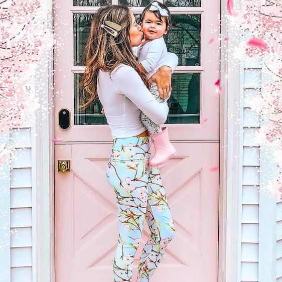 MUSE LUCY FLORAL MOMMY AND ME LEGGINGS