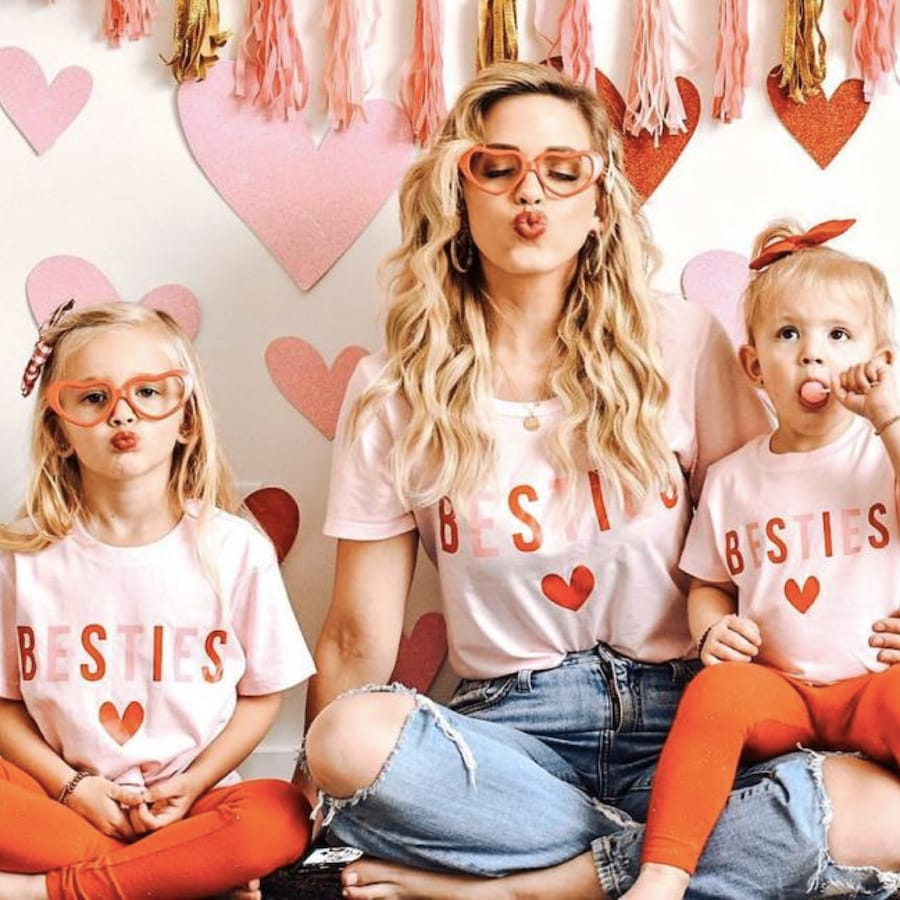 Mommy and Me Matching Besties Heart Shirts