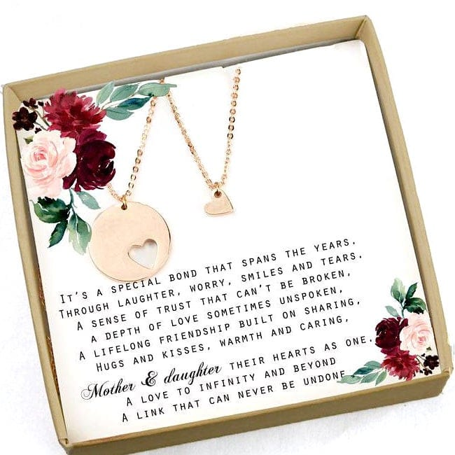 Mother Daughter Gift Heart Necklace