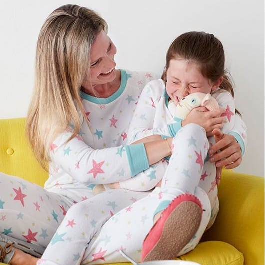 Mother Daughter Matching Star Pajamas