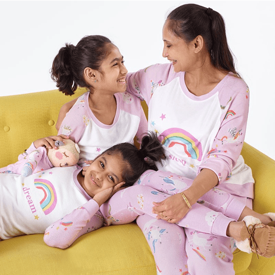 Mother and Daughter Matching Unicorn Pajamas
