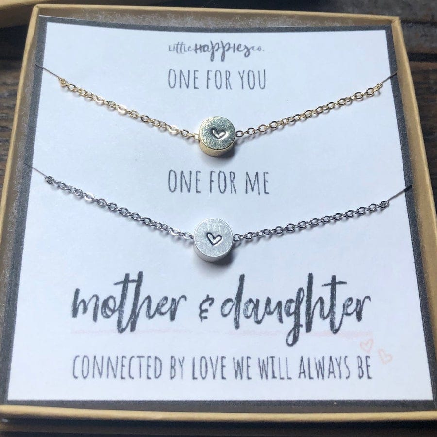 One for you One for me Mother Daughter Matching Necklace Sets
