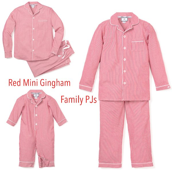 Red Mini Gingham Family Pajamas