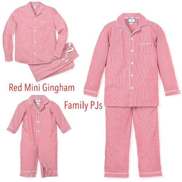 Red Mini Gingham Family Pajamas